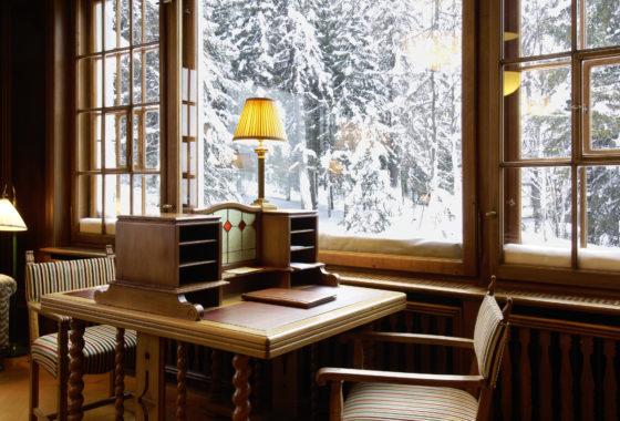 Biblothek im Hotel Waldhaus Sils