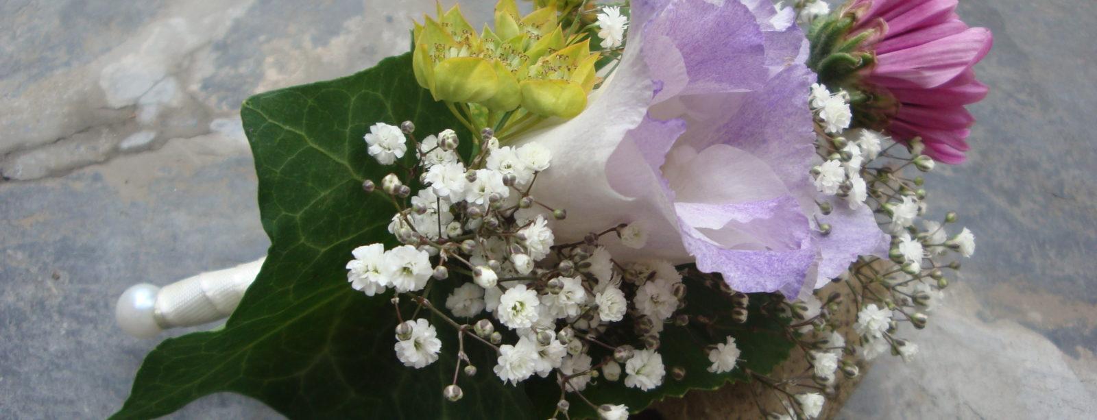 Ansteckblumen - Hochzeitsfeier Hotel Waldhaus Sils