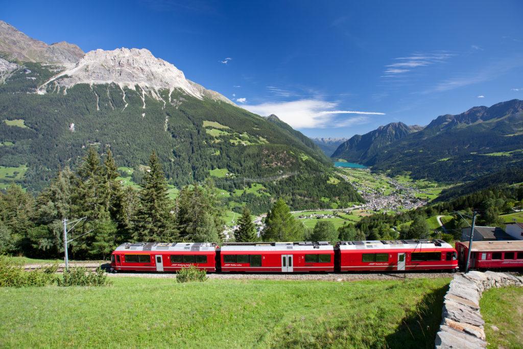 View of the Valposchiavo valley - Bernina Express