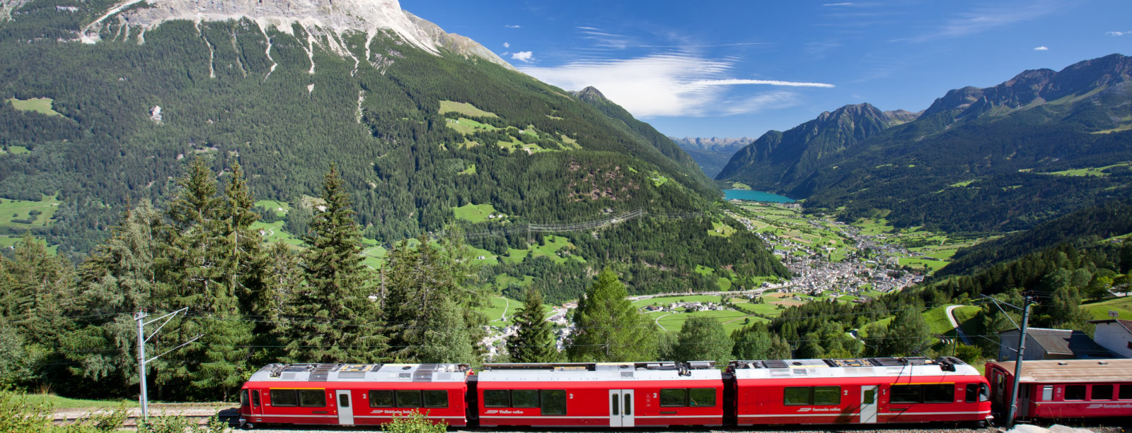 Vue sur le Val Poschiavo - Bernina Express