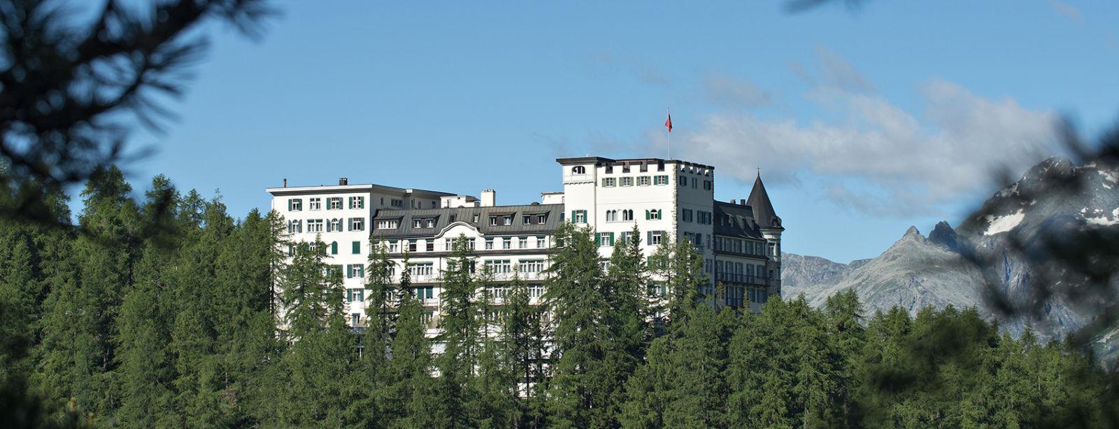 Vue extérieure de l'hôtel Waldhaus Sils
