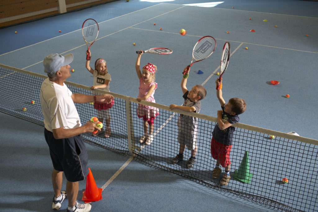 Tennishalle im Hotel Waldhaus Sils