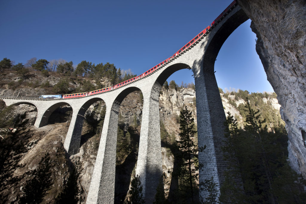 Les Chemins de fer rhétiques RhB: Landwasser Viaduct