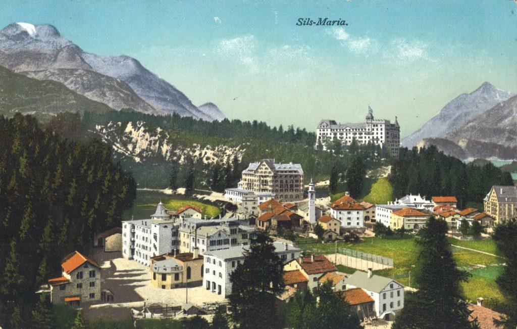 Waldhaus Sils - nostalgische Ansichtskarte