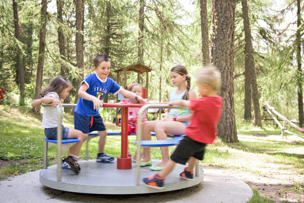 Playground at the Hotel Waldhaus Sils