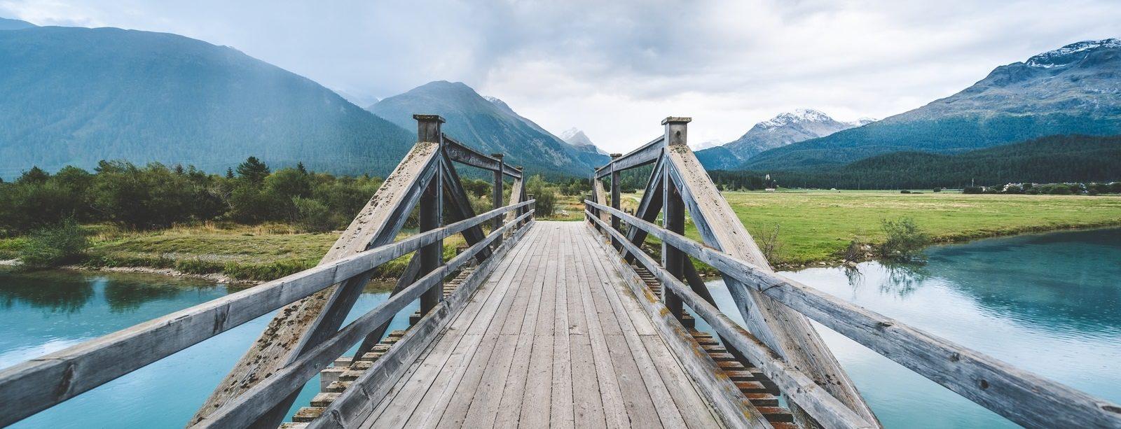 Innbrücke bei Celerina