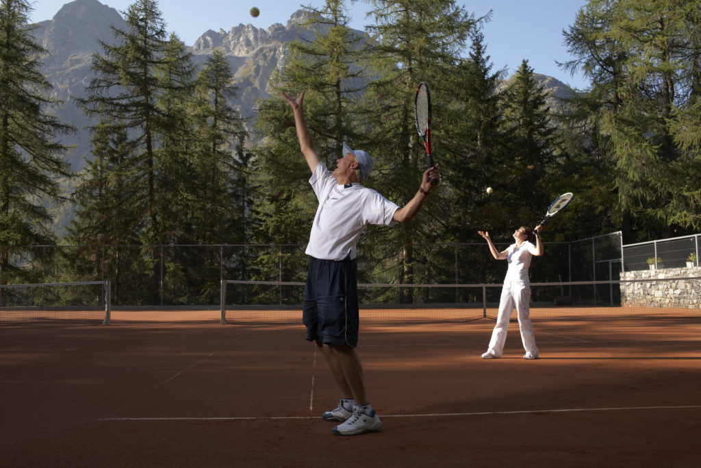 Tennis courts at Hotel Waldhaus Sils