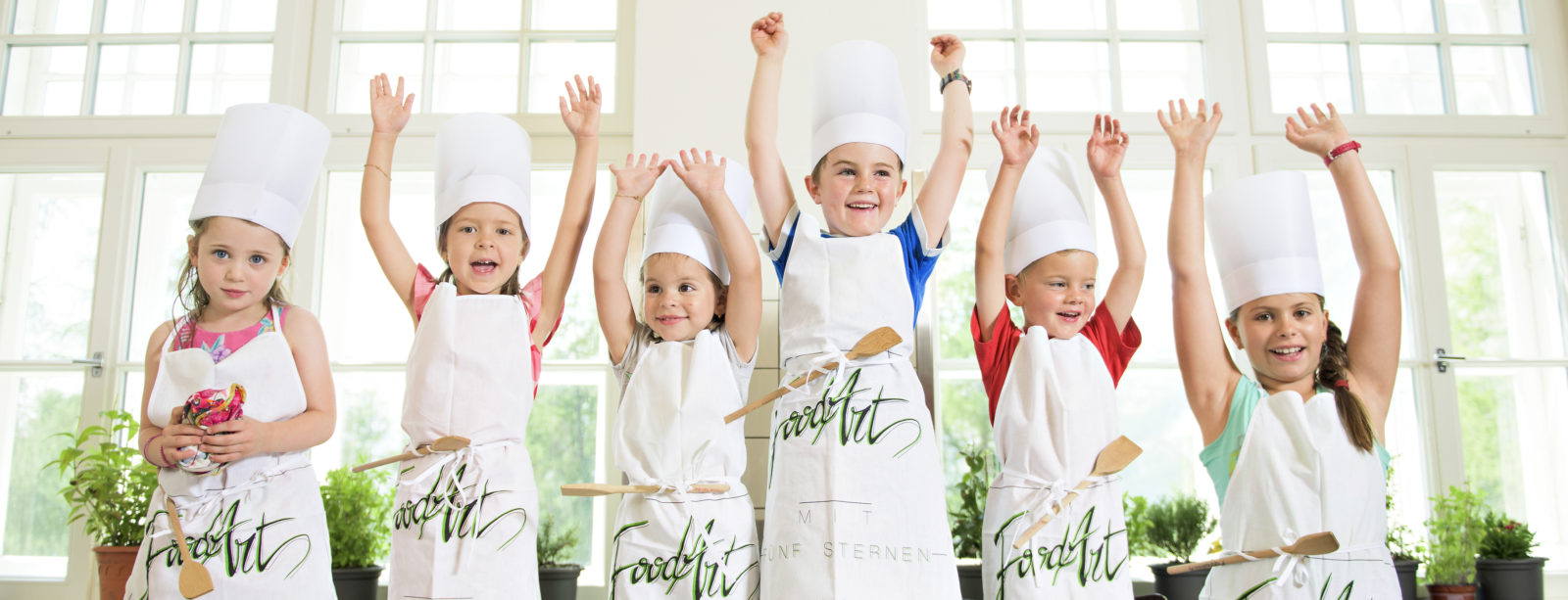 Pizza baking for the kids at Hotel Waldhaus Sils