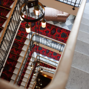 Staircase at the Hotel Waldhaus Sils