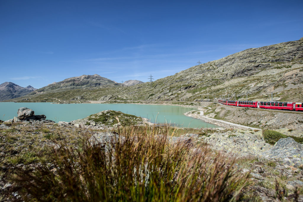 Bernina Express mit dem Lago Bianco