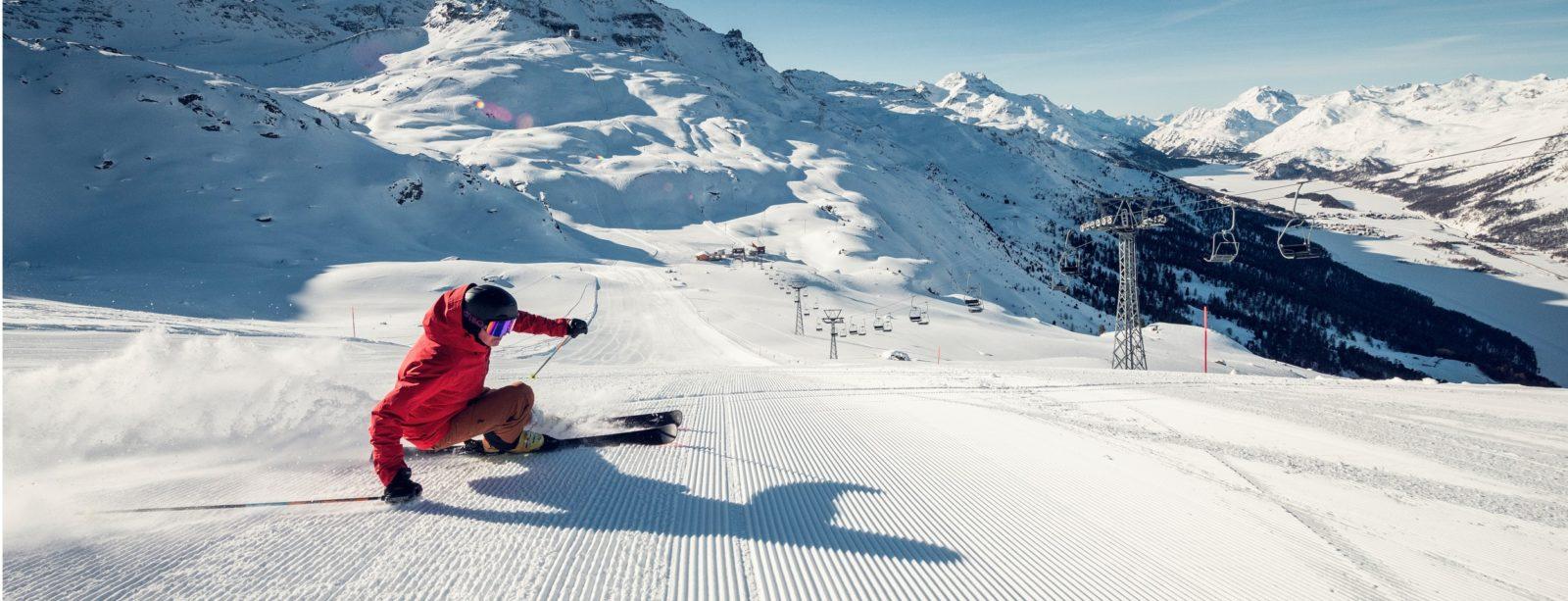 Skiing Corvatsch