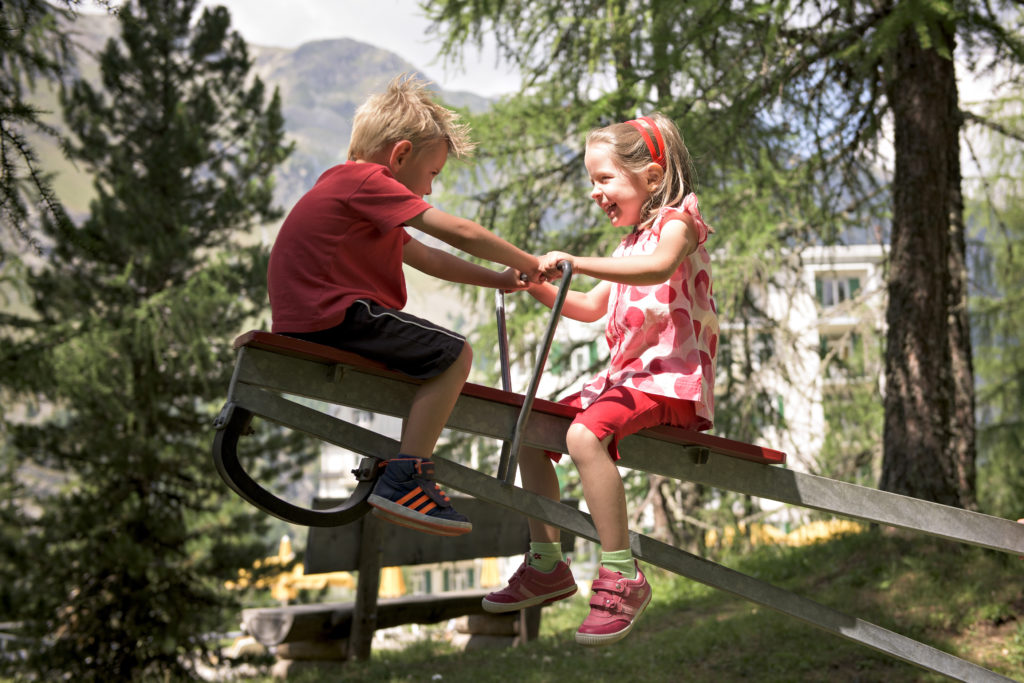 Children's playground at the Hotel Waldhaus Sils