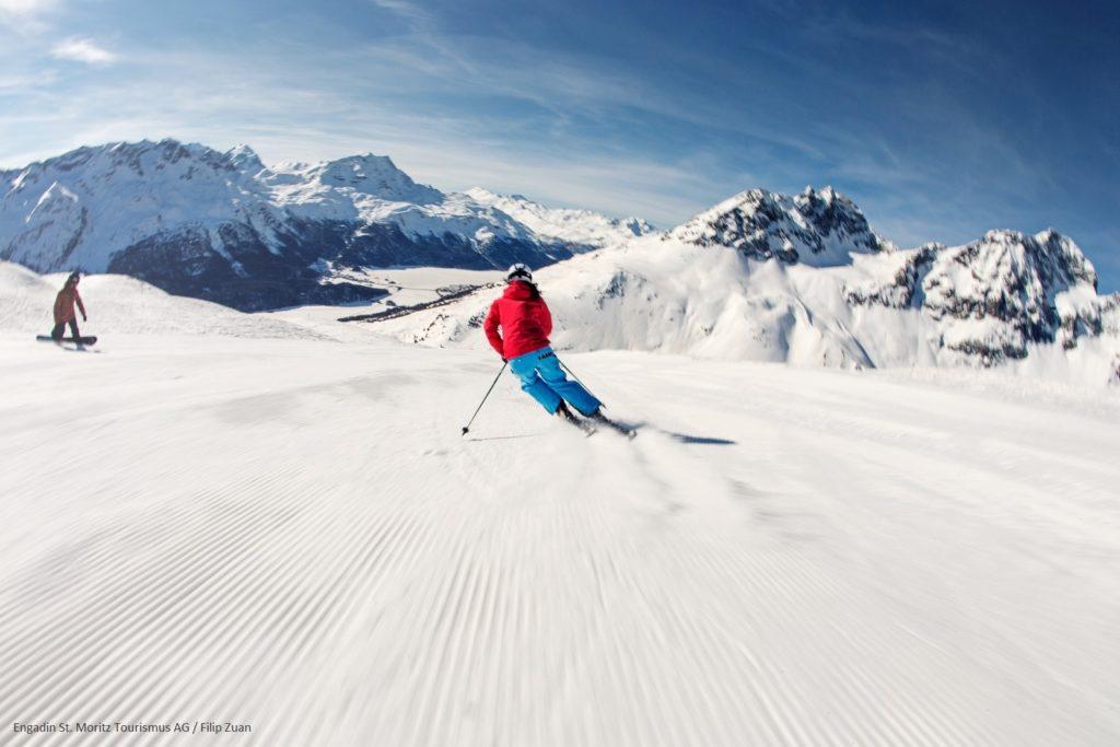Skiing - St. Moritz Engadin Mountains