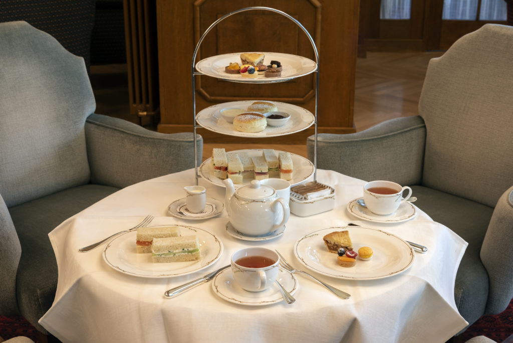 Afternoon Tea at the Hotel Waldhaus Sils