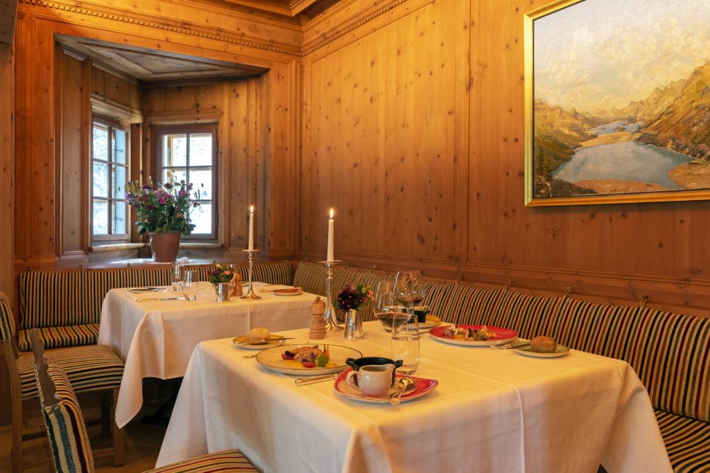 L'Arvenstube dans l'hôtel Waldhaus Sils