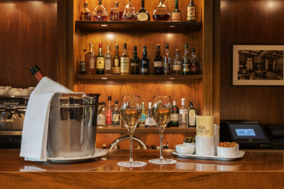 The bar at the Hotel Waldhaus Sils