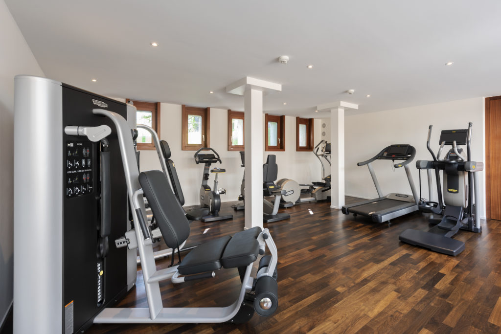 Fitness room at the Hotel Waldhaus