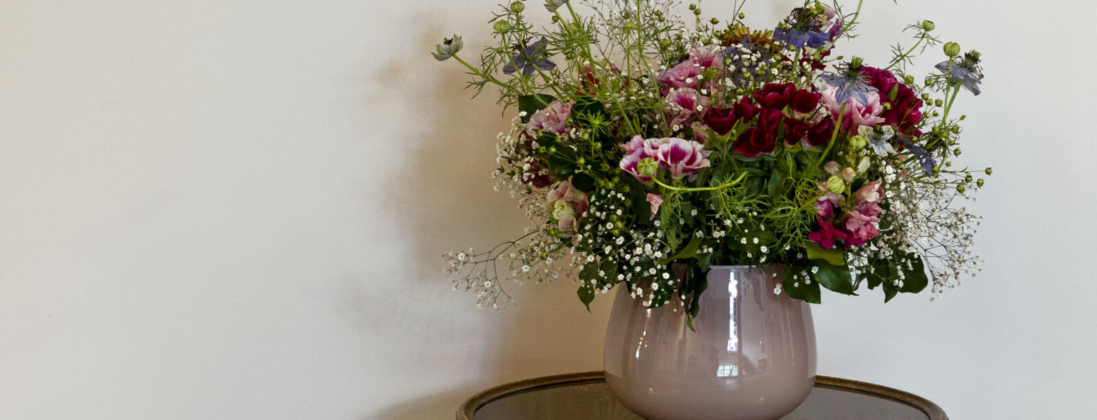 Bouquet de fleurs dans l'hôtel Waldhaus Sils