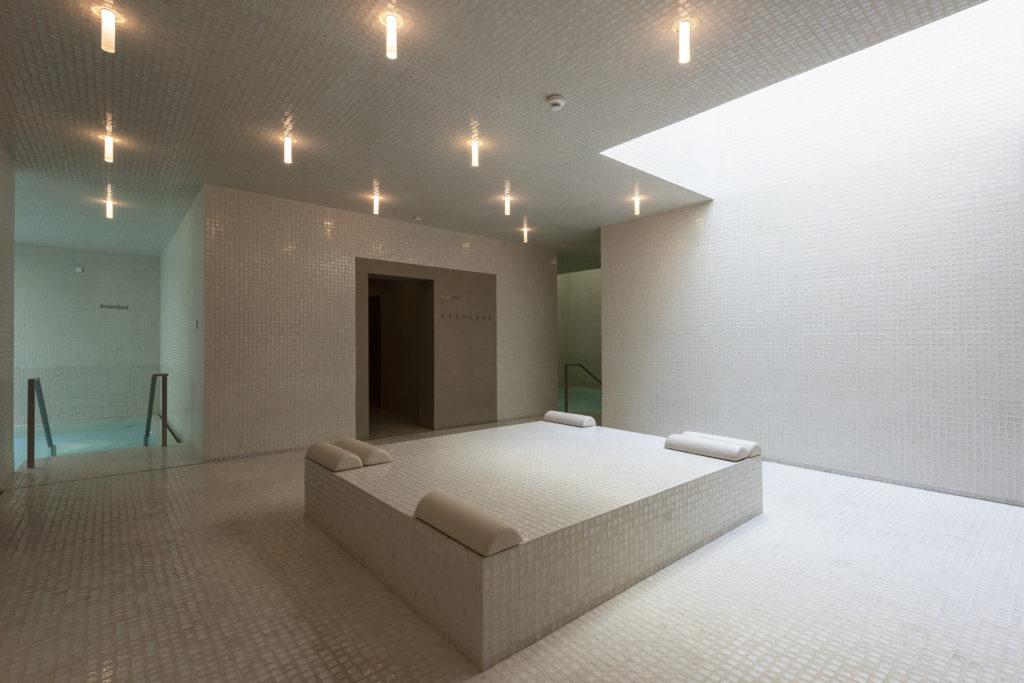 Le spa dans l'hôtel Waldhaus Sils