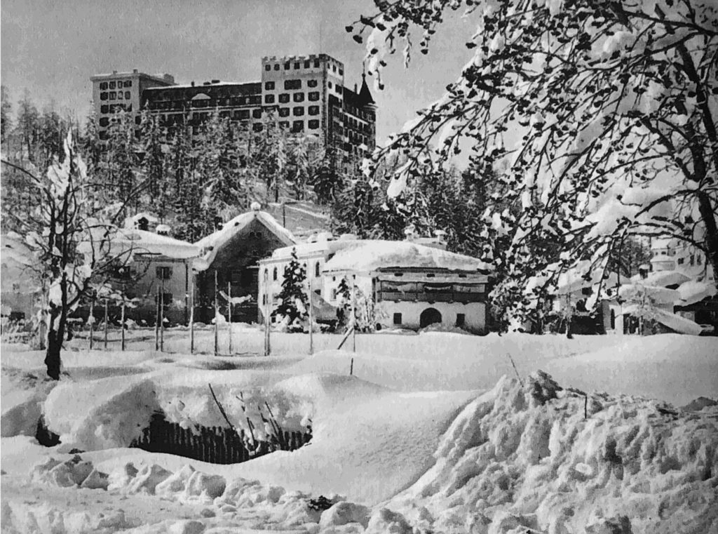 Nostalgisches Bild - Winteransicht Hotel Waldhaus