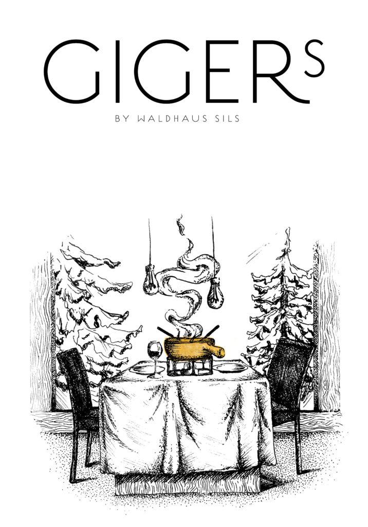Waldhaus Sils - Illustration Gigers