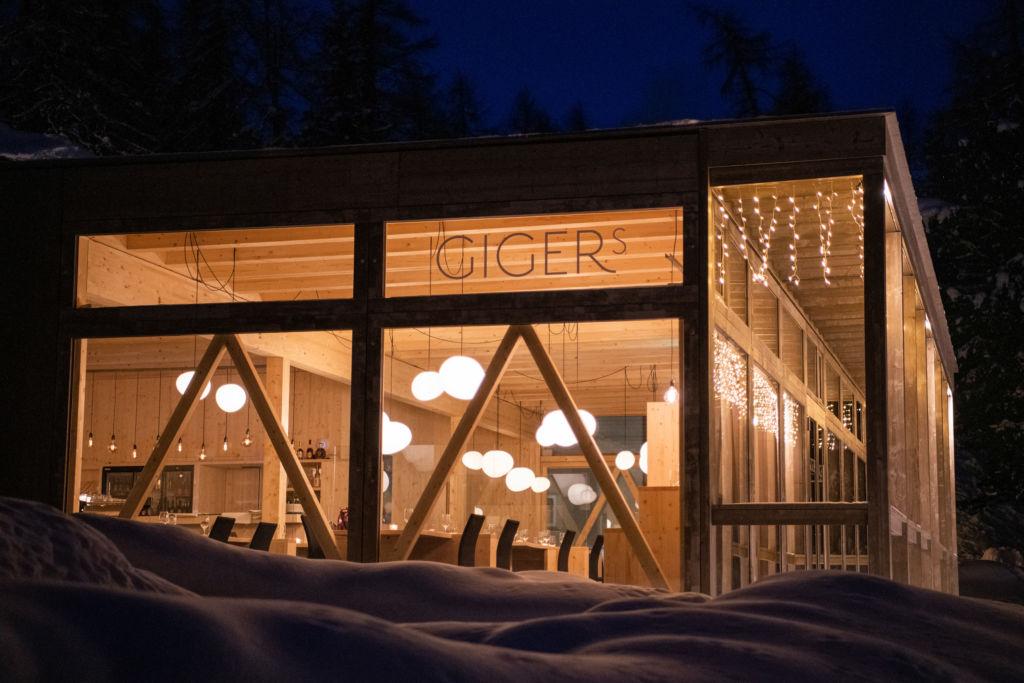 Restaurant Gigers beim Hotel Waldhaus Sils