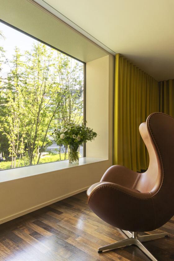 Empfang beim Spa, Hotel Waldhaus Sils