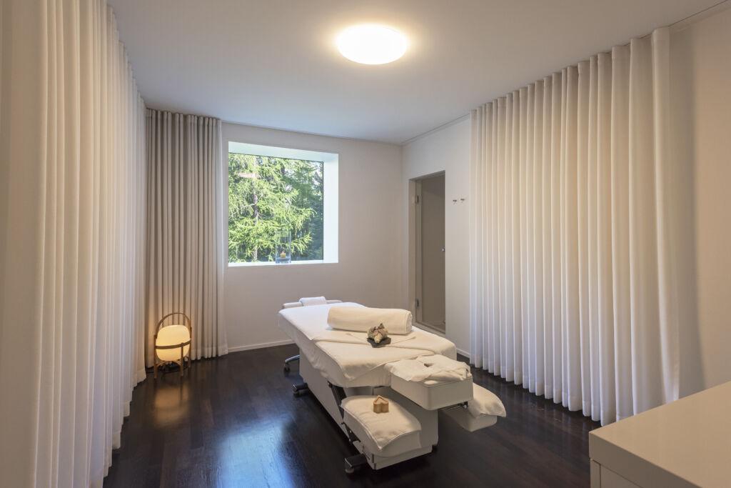 Le cabine de massage dans l'hôtel Waldhaus Sils