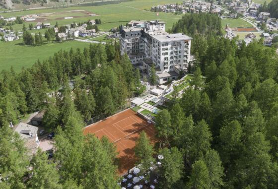 Panoramabild Hotel Waldhaus Sils