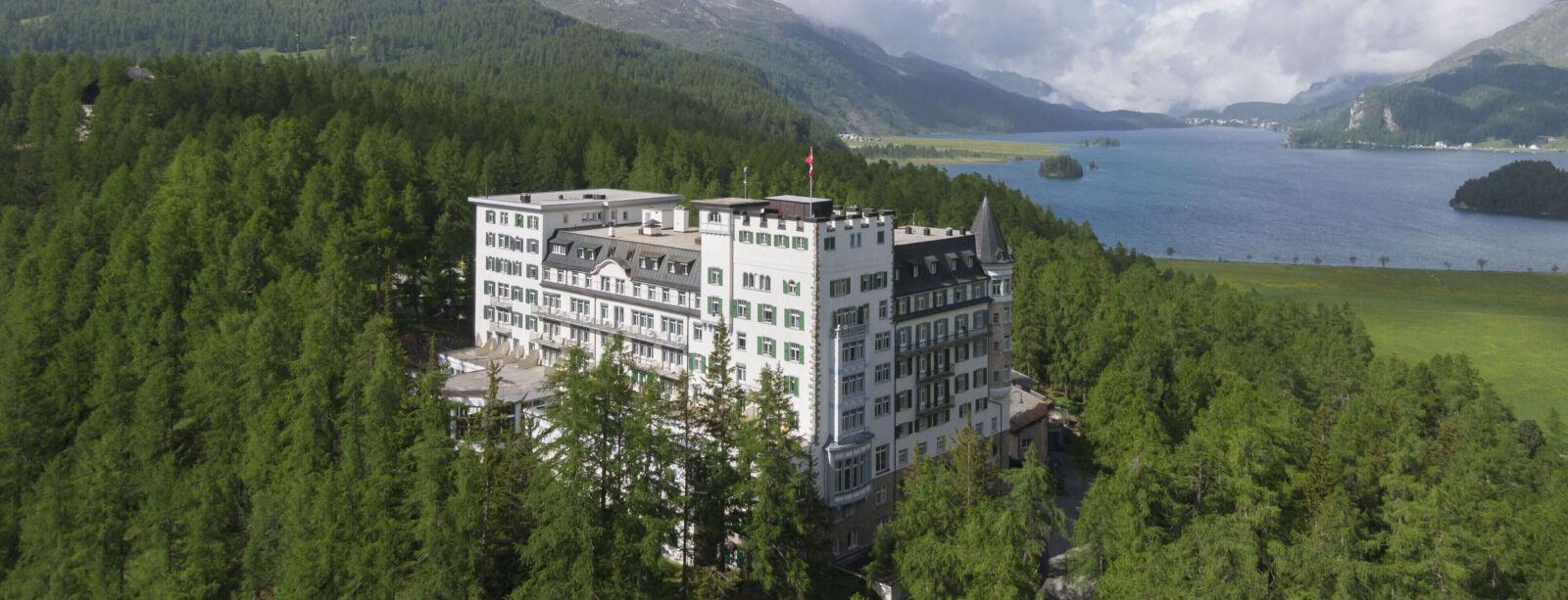 View towards Hotel Waldhaus Sils